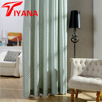 Europe Geometric Pattern Modern Curtains For Living Room Cheap Curtains Luxurious Shading Blackout Curtain Hp010 15