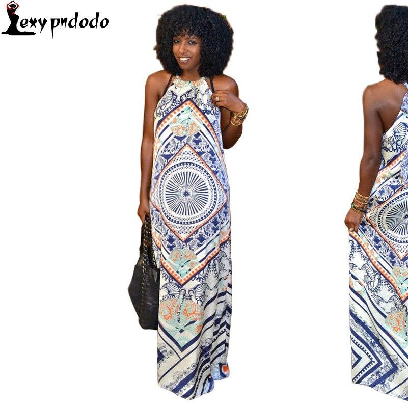 2016 Summer Womens Maxi Dress Casual Style Woman Printed Long Dress Sexy Off Shoulder Club Party Dresses vestidos de fiesta