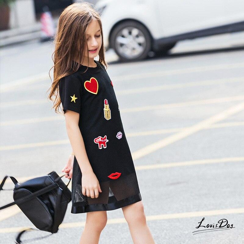 2019 New Spring&Autumn Girl's Princess Dress Korean Version Short Sleeve Girls Dress European and American Style