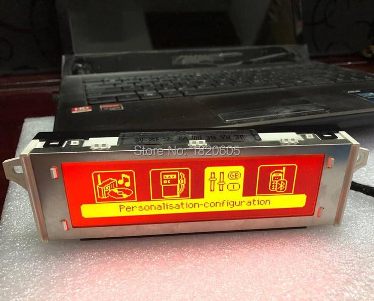 Écran de voiture support USB Bluetooth 4 menu affichage rouge moniteur 12 broches pour Peugeot 307 407 408 pour citroën C4 C5