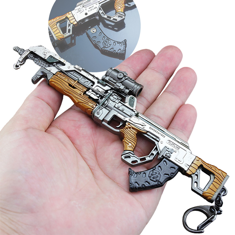 APEX Legends Game Battle Royale Keychain Action Figure VK47 Rifle Gun Model APEX Weapons Children Toy