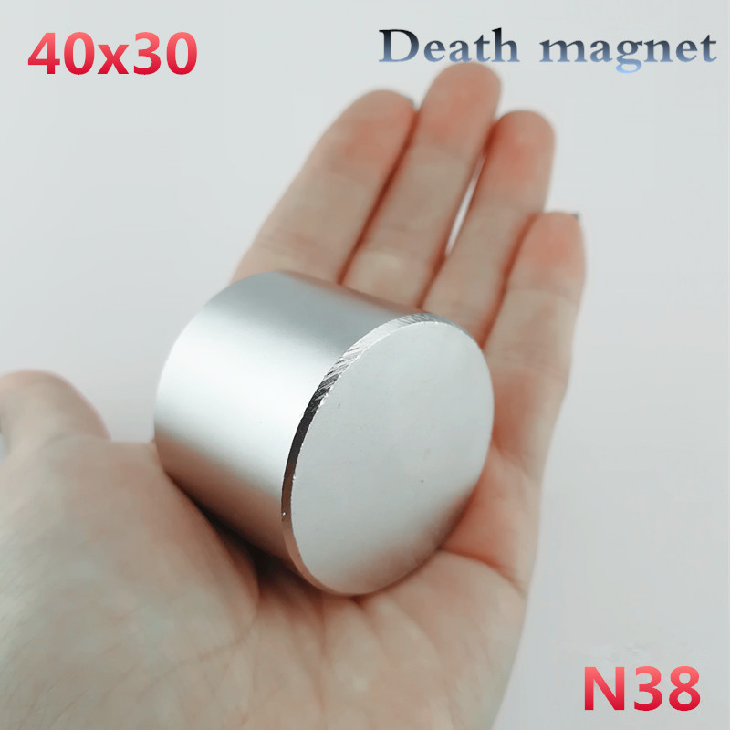 цена 1pcs N38 Neodymium magnet 40x30mm NEW gallium metal super strong round magnets 40*30mm Neodimio magnet powerful permanent magnet