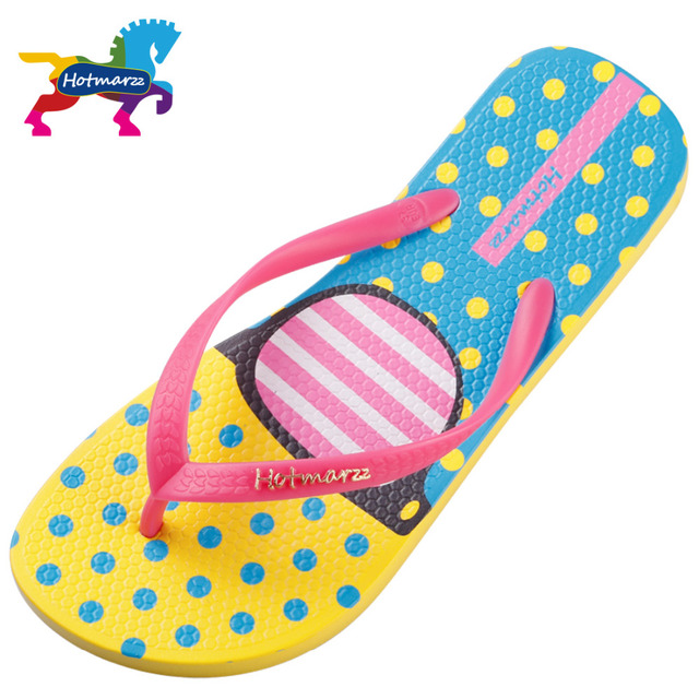 Hotmarzz Women Fashion Flip Flops Beach Slippers Summer House Shoes Woman Flat Sandals Glasses Print Female Home Slippers 8