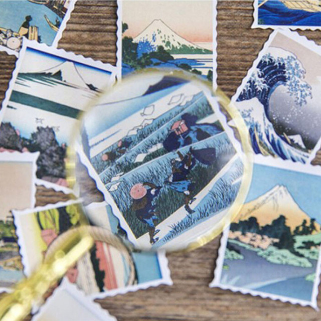 46 Pcs New Ideas Picture Boxed Stickers Diy Diary Scrapbooking Gift