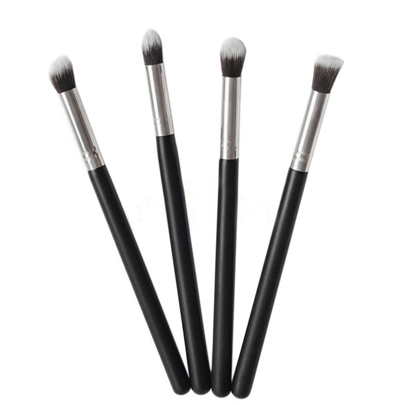 LEARNEVER Pro 4 Pcs Makeup Cosmetic Tool Eye shadow Powder Foundation Blending Brush Set Eyeliner Brushes Make up Brush learnever makeup set eye shadow eyeliner liquid eyebrow pencil mascara powder cake foundation lipstick blush concealer maquiagem