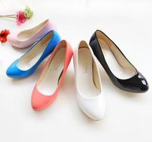 Candy Color font b Women b font Pumps 2015 Medium Heel Solid Ladies High Heels Big