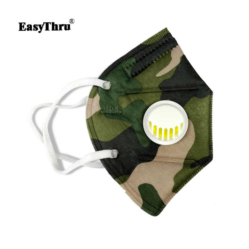 Mask Face Valve Pm2 With Macka Disposable 5pcs Nonwoven Anti-dust Folding Mouth 5 N95 Respirator Camouflage Hunting