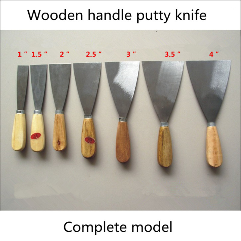 Wooden Handle Plaster Knife Putty Knife Plastering Trowel Clean Shovel Wall Caulking Spatula Knife Knife Group Of Ashes