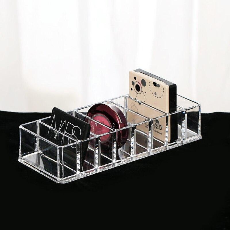Мода прозрачный акриловый 8 слотов косметический организатор Косметическая пудра ящик для хранения бытовой Для женщин Макияж Коробки для инструментов контейнер для хранения косметики