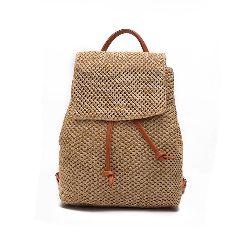 Hot Sale Unisex Vegetable Tanned Nylon Backpacks Vintage Design Women bag Weaving Backpack Male Female Fashion