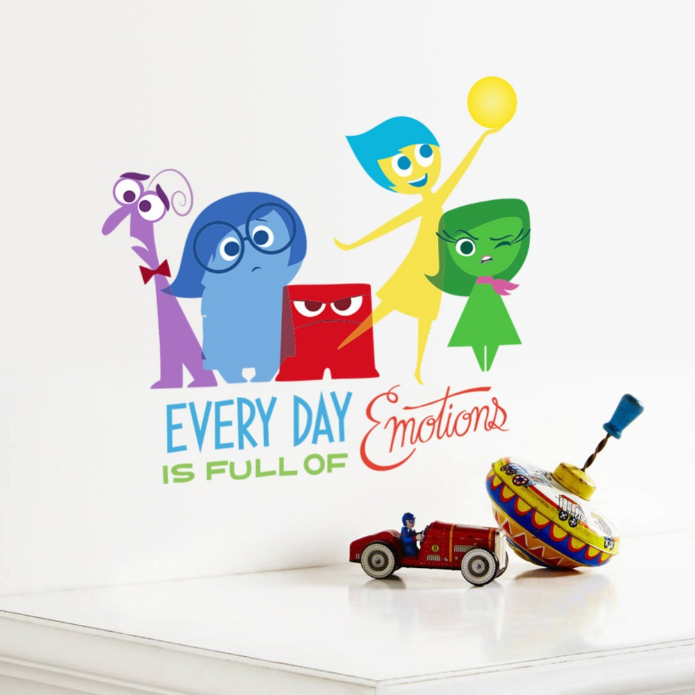 2015 New Cartoon Movie Inside Out Wall Sticker Home Decor /Sadness ...