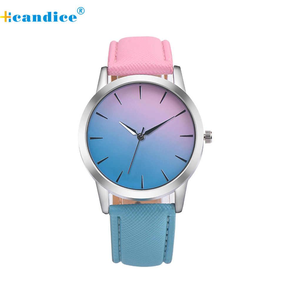 עיצוב רטרו קשת שמלת גברת סגסוגת קוורץ שעון יד אנלוגי רצועת עור שעונים Montre Femme Relogio Feminino