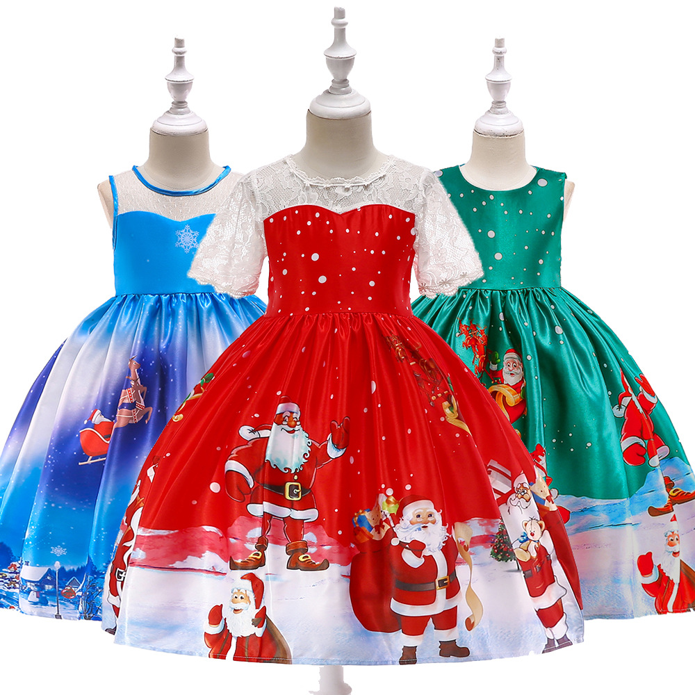 New Fashion Christmas Princess Of Girls Dresses Reception Formagirls Clothes Ball Gown For Girl Dress Knee-length Style costumes