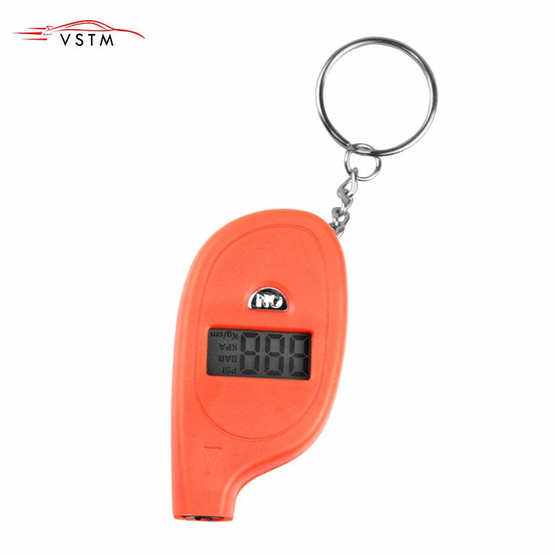 Hot Sale] Mini Keychain style Tire Gauge Digital LCD display