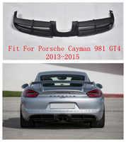 Z włókna węglowego tylny zderzak samochodowy Spoiler, tylny zderzak samochodowy dyfuzor pasuje do Porsche Cayman 981 GT4 2013 2014 2015 przez EMS