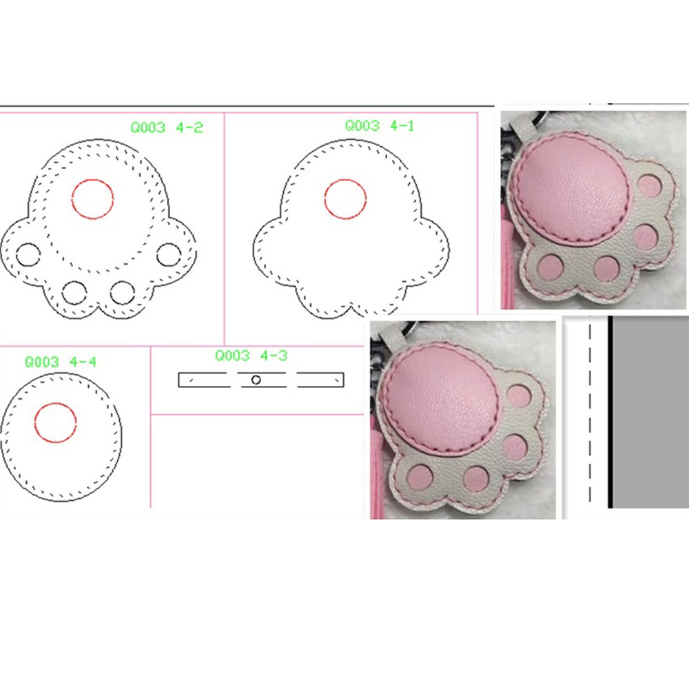 DIY Leather Craft Cute Cat Paw Shape Modeling Shape Die Cutting Knife Mould Hand Machine Punch Tool Template