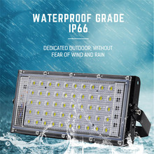 LED Flood light 220V 50W Spotlight focus projector reflector spot Lighting streetlight Waterproof IP66 Outdoor R G B