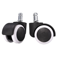 MTGATHER 5PCS Mute Wheel 2 Replacement Office Chair Swivel Casters Rubber Rolling Rollers Wheels 50KG Furniture