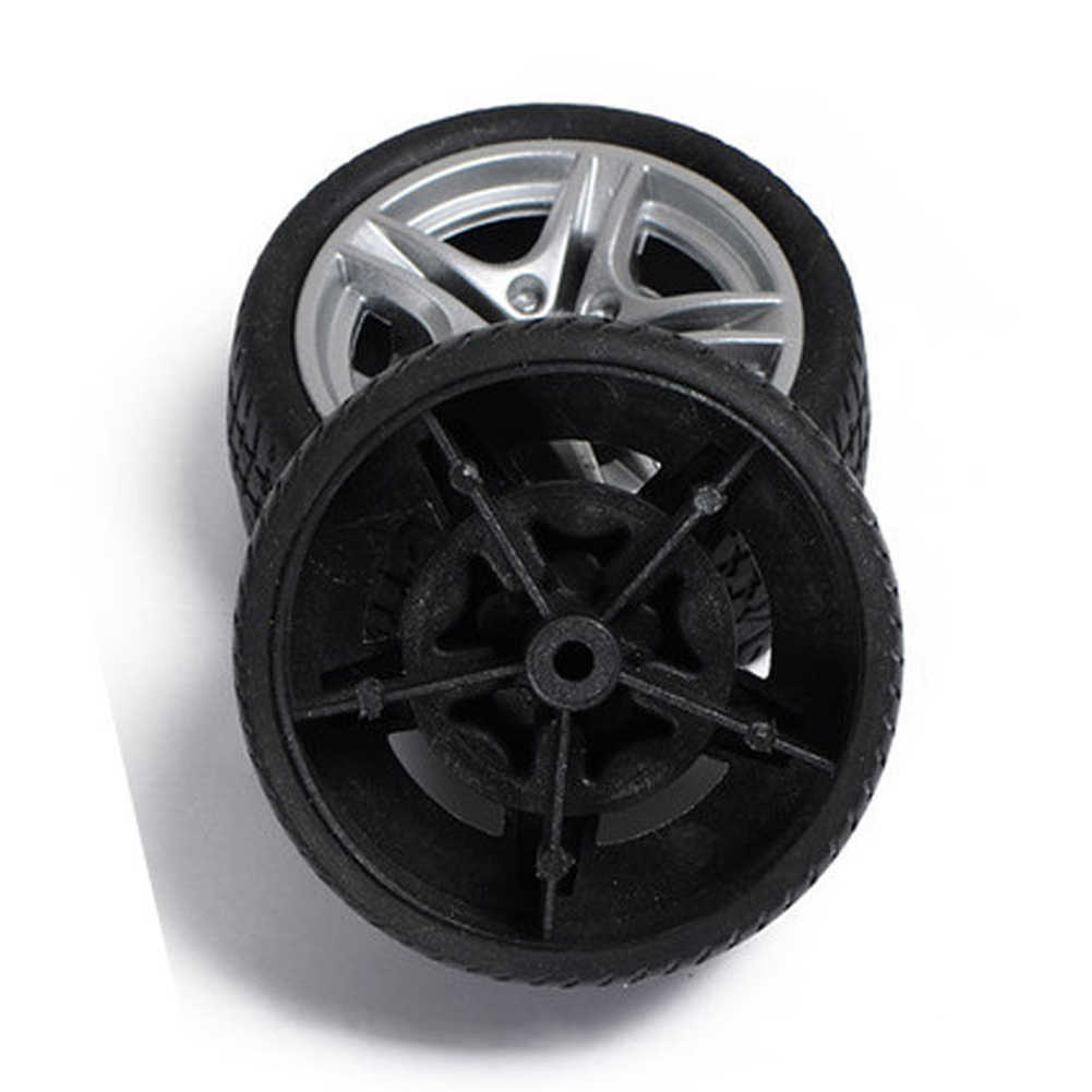 40mm Rubber Wiel voor Tracking Model Auto Robot Accessoires DIY Productie RC Speelgoed Auto Onderdelen &