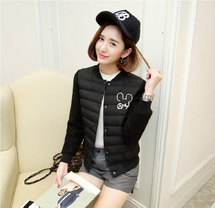 Female Short Section Of The Students Baseball Round Necklace Small Cotton Jacket Thin Section Of Autumn And Winter Cotton Jacket the impact of technology toward students performance