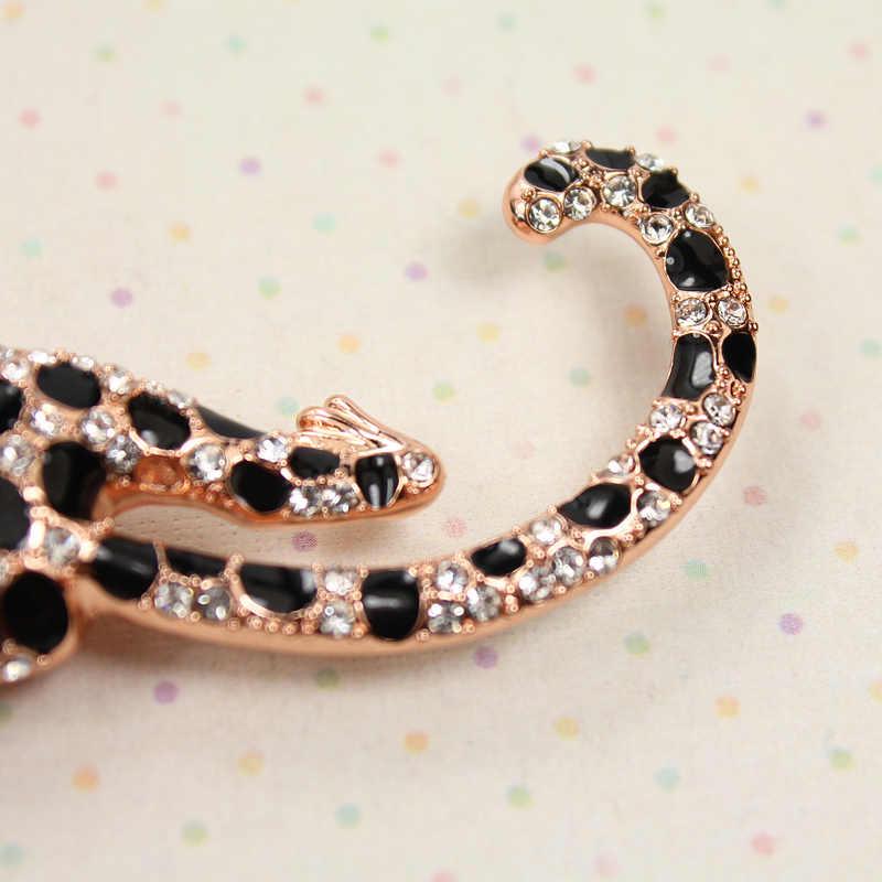 Personalidade charme do leopardo broche de pino acessórios de alta qualidade da marca de jóias