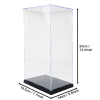 Transparent Acrylic Display Case Toy Dustproof Clear Handmade Models Showcase Building Kits Anime Figure Showing Box Kids Toys