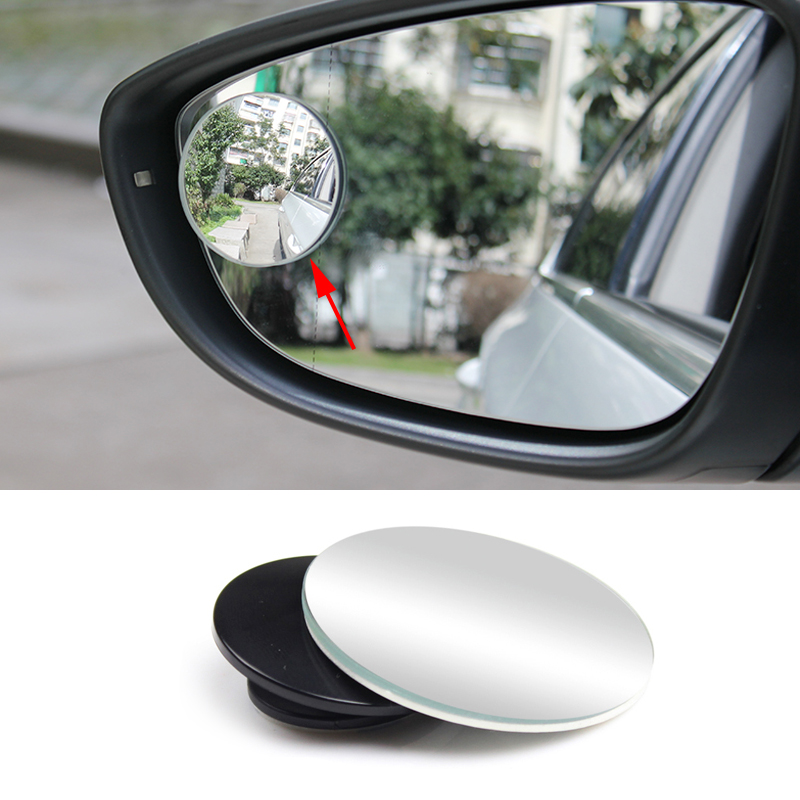car styling 1 pc clear car rear view mirror 360 rotating safety wide angle blind spot mirror. Black Bedroom Furniture Sets. Home Design Ideas