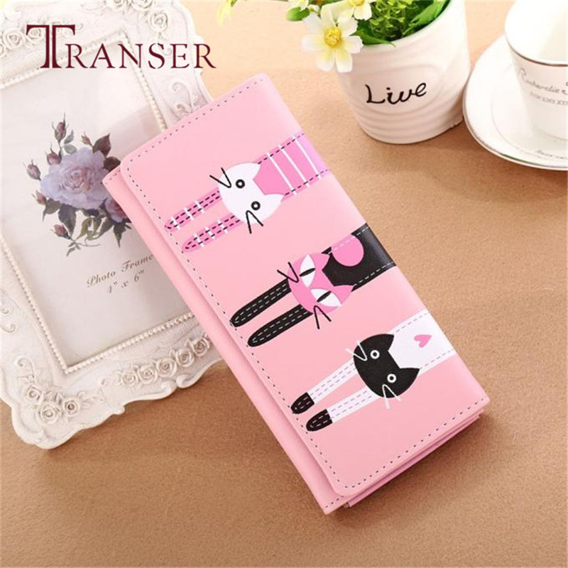 Women Cat Pattern Coin Purse Long Wallet Card Holders Handbag Best Gift Wholesale May22 футболка мужская dan jieshi 2015