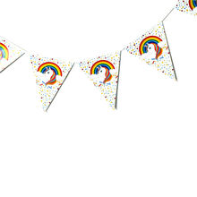 278*28.5cm paper banner bunting unicorn party kids birth day party decoration(China)