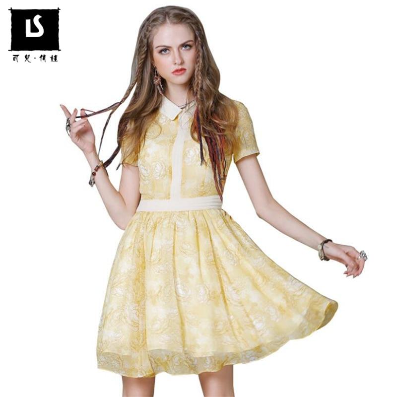 Eté 2018 femmes mode Slim mousseline de soie imprimé couture robes Sexy haute qualité boho manches courtes Vintage décontracté bureau robe