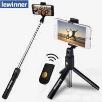 Lewinner 3 en 1 sans fil Bluetooth Selfie bâton Mini trépied extensible monopode universel pour iPhone X 8 7 6s pour Samsung/Huawei