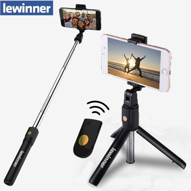 Lewinner 3 in 1 Wireless Bluetooth Selfie Stick Mini Tripod Extendable Monopod Universal For iPhone X 8 7 6s For Samsung/Huawei Uncategorized