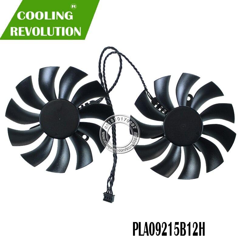 2 pçs/lote PLA09215B12H 12 V 0.55A 86mm 4Pin Para EVGA GTX 1080 Ti SC SC GTX1080TI SC2 Edição Preta ventilador Placa Gráfica Ventilador de Refrigeração