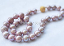 Wholesale!8-9mm Purple pearl necklace 18inch DIY handmade women fashion jewelry making design gfit