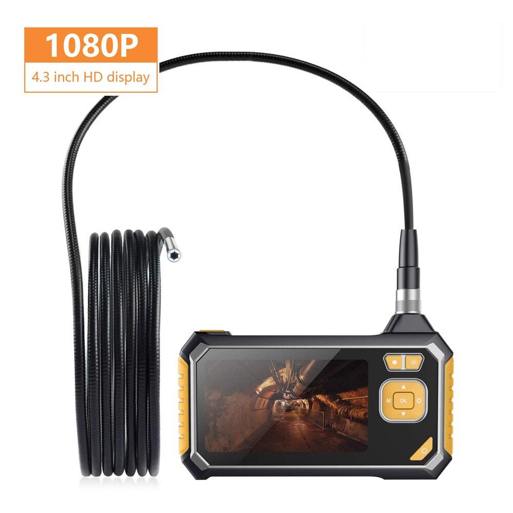 1080P Endoscope Camera Industrial HD 4.3-inch Digital LCD Screen In Surveillance Cameras Professional Car Inspection Borescope