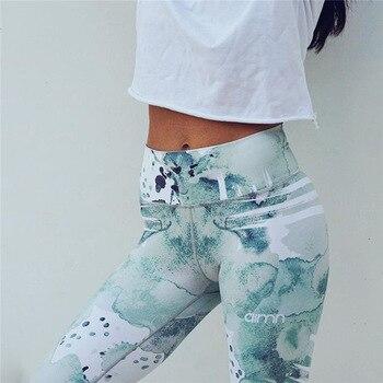 Graffiti Flower Digital Print Fitness Leggings