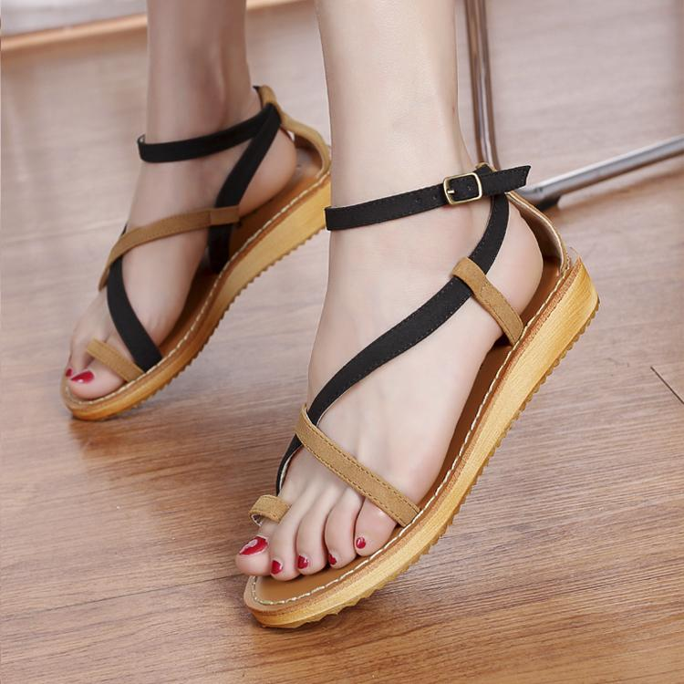 b7d0988323bc Sandals Women summer 2015 Korea style latest flat ladies Sandals casual  Roman style beach sandal shoes-in Women s Sandals from Shoes on  Aliexpress.com ...