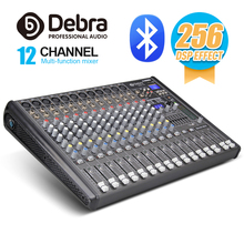 Professional Debra Audio PRO 12 Channel with 256 DSP Sound Effects Bluetooth Studio Mixer - DJ Controller Interf
