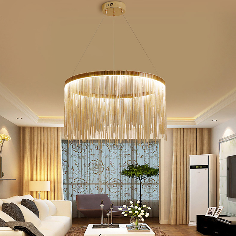 Free shipping Post modern Creative art lamps Dimming acrylic Chandelier lamp Fashion Living room ...