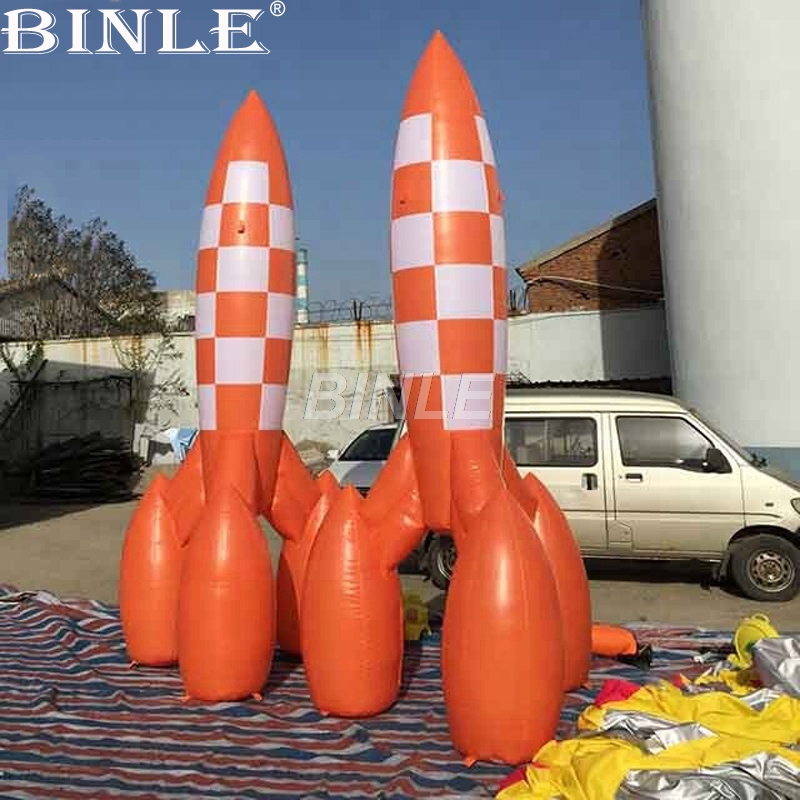 De publicidad súper gigante inflable espacio cohete misil réplica modelo para el evento