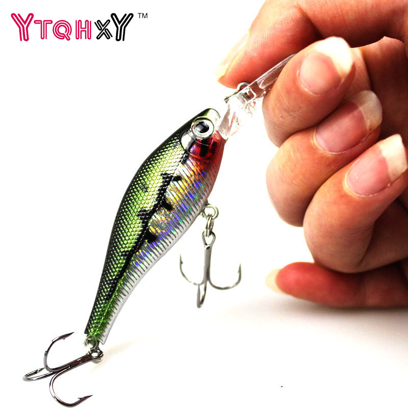 1Pcs 9cm 6.8g Wobbler Fishing Lure minnow Swimbait iscas artificiais para pesca crankbait Hard lures Bait Fishing Tackle WQ246 tsurinoya fishing lure minnow hard bait swimbait mini fish lures crankbait fishing tackle with 2 hook 42mm 3d eyes 10 colors set
