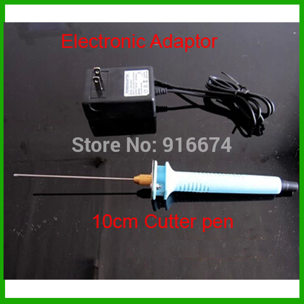 Free shipping 1pc 10cm Electric Foam Hot Knife Styrofoam Cutter Pen+ Electronic Voltage Transformer Adapter (EU plug available) free shipping 1pc 15cm electric foam hot knife styrofoam cutter pen electronic voltage transformer adapter eu plug available