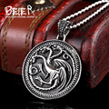 Game of Thrones Logo Cool Stainless Steel Cool Fashion Necklace Pendant For Man Movie Jewelry