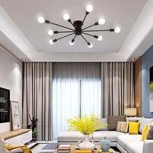 Винтажная металлическая Звездная люстра освещение ретро люстры-пауки полузаподлицо потолочный светильник Sputnik светильник для дома