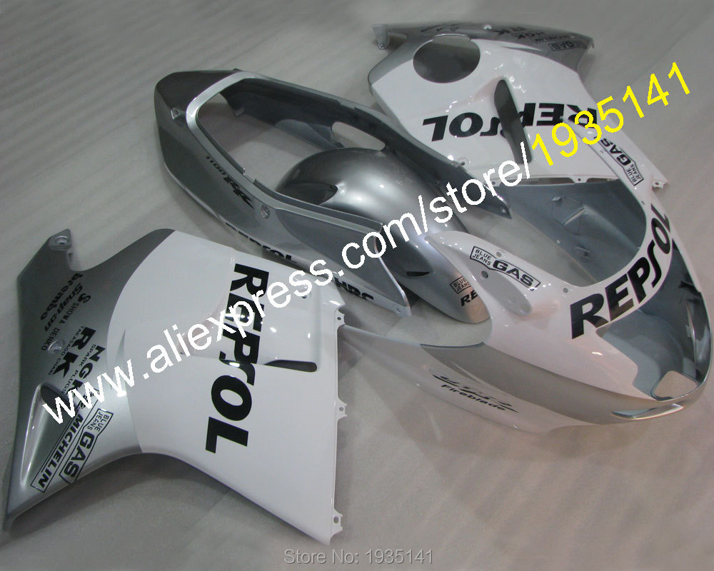 Горячие продаж,обвес для Honda CBR1100XX ЦБ РФ 1100 ХХ Репсол 96-07 1996-2007 весь белый мотоцикл кузов Обтекателя (литье под давлением)