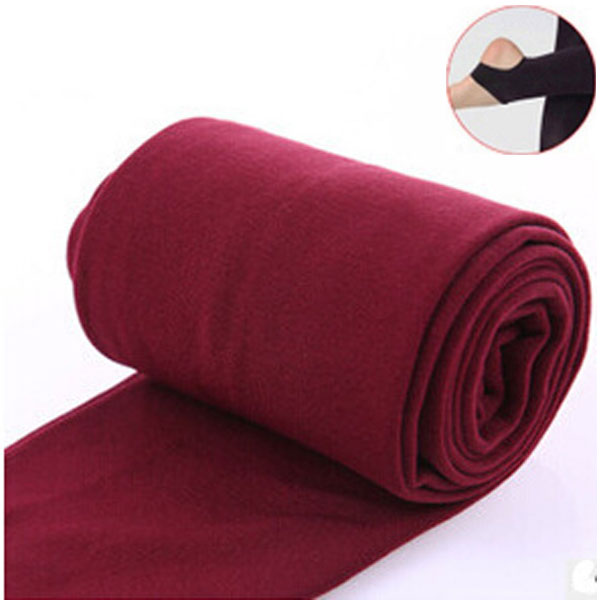 2020 Autumn winter woman thick warm leggings candy color brushed charcoal Stretch Fleece Pants Trample Feet Leggings 28