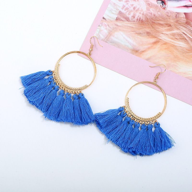 Tassel Earrings For Women Ethnic Big Drop Earrings Bohemia Fashion Jewelry Trendy Cotton Rope Fringe Long Dangle Earrings in Drop Earrings from Jewelry Accessories