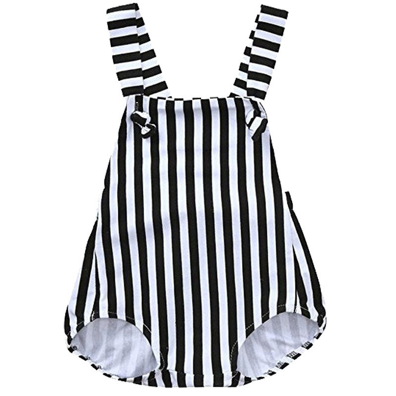 Toddler Baby Boy Girl Summer Stripe Jumpsuit Bodysuit Baby Clothes Outfits Set Onesie Sleeveless Sunsuit Kids Clothing Set