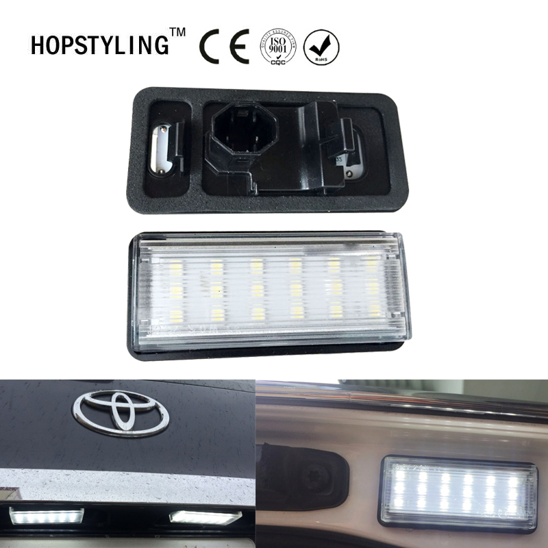 2pcs Error Free For Lexus LX470 GX470 Toyota Land Cruiser 120 Prado Land Cruiser 200 Car LED Number License Plate Light Kit lexus gx470 toyota land cruiser prado 120 модели 2002 2009 года выпуска руководство по ремонту и техническому обслуживанию