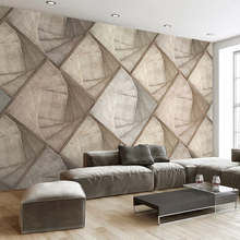 Custom Photo Wall Paper 3D Stereoscopic Wood Grain Brick Wall Modern Living Room Sofa Bedroom Home Decor 3D Wall Mural Wallpaper